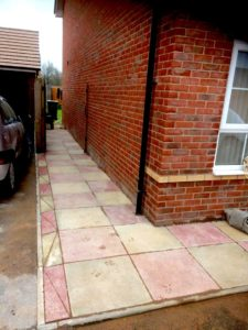 pathway slabbing decorative walsall