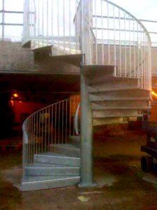 steel spyral staircase west midlands